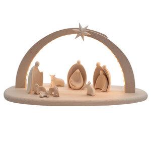 Komplettset beleuchtete Krippe 'Sternenlicht'   13-teilig   Made in Südtirol - 4betterdays