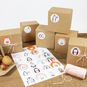 Adventskalender Set mit Boxen zum Befüllen - Bow & Hummingbird