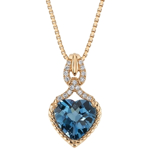 Londoner Topas im Anhänger mit synthetischen Diamanten Leandre - Eppi