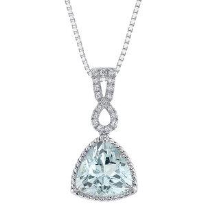 Goldener Anhänger mit Aquamarin und synthetischen Diamanten Faye - Eppi