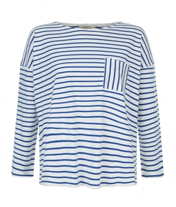 Elba Stripe Top Blue - People Tree