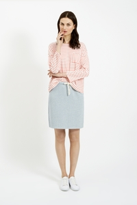 Elba Stripe Top Coral - People Tree