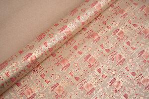 Dekoratives Geschenkpapier 1 Bogen, mit aufwändiger Siebdruckverzierung - El Puente