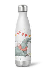 Thermoflasche Trinkflasche Elefant und Hase für Kinder Kindergarten Schule - wolga-kreativ
