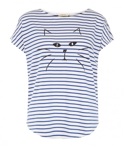 Stripe Cat Tee - People Tree