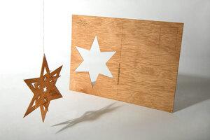 Zedernholzkarte Faltstern - Formes