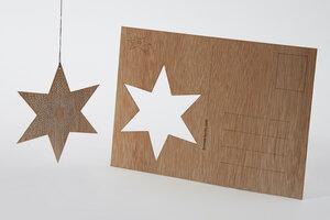 Zedernholzkarte Pünktchenstern - Formes