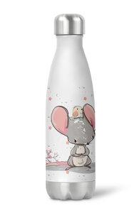 Thermoflasche Trinkflasche süße Maus für Kinder Mädchen Junge Kindergarten Schule - wolga-kreativ