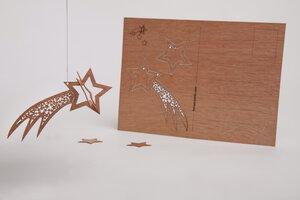 Zedernholzkarte Sternschnuppe - Formes