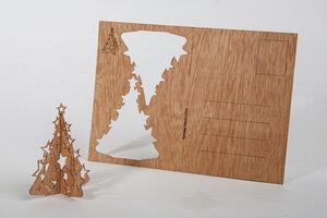 Zedernholzkarte Tanne mit Sternchen - Formes