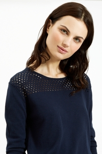 Eva Jumper Navy - People Tree