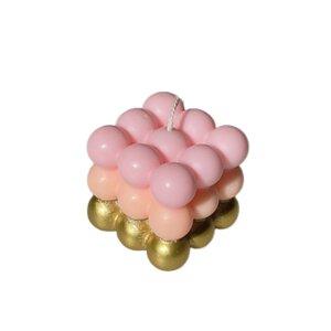 Dip Dye Bubble Kerze - Pink Stories