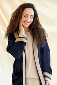 Damen Kimono Jacke Angela aus Tencel - l'amour est bleu