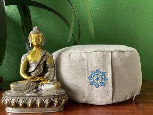 Meditationskissen aus Rohleinen - Bhūmikā