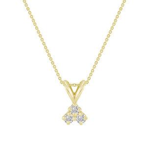Goldene Kette mit drei synthetischen Diamanten Alica - Eppi