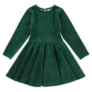 Lily Balou Circle Dress Velour Evergreen - Lily Balou