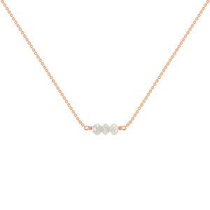 Goldener Choker mit Diamanten-Perlen Xanadie - Eppi