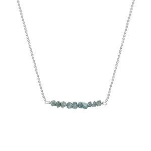 Goldener Choker mit blauen ungeschliffenen Diamanten Inaku - Eppi