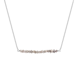 Goldener Choker mit rosa ungeschliffenen Diamanten Wandalee - Eppi
