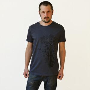Herren T-Shirt Erle mit Elster in india ink grey  - Cmig