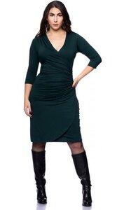 CHANTAL Kleid in Wickeloptik mit 3/4-Arm aus Bambus-Viskose - Ingoria