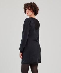 Winterkleid aus Bio Baumwolle & Spitze - LACE - LASALINA