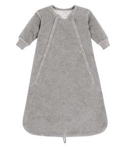 Baby Schlafsack grau Velour  Bio Baumwolle - sense-organics
