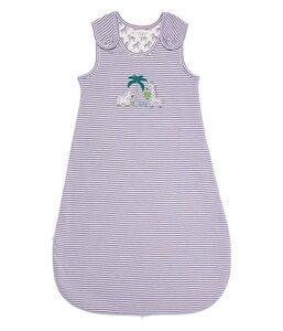 Baby Schlafsack weiß lila geringelt  Bio Baumwolle - sense-organics