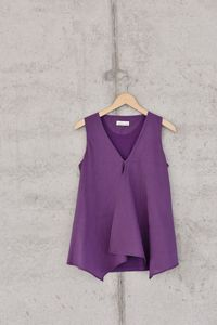 Top mit Voile lila - Madness