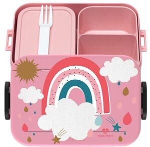 Bento Box Brotdose Lunchbox Regenbogen für Kinder Mädchen Junge rosa - wolga-kreativ