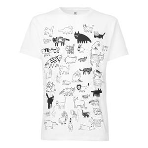 ThokkThokk 90Cats T-Shirt white - THOKKTHOKK