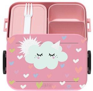 Bento Box Brotdose Lunchbox Sonne,Wolke für Kinder Mädchen Junge rosa - wolga-kreativ