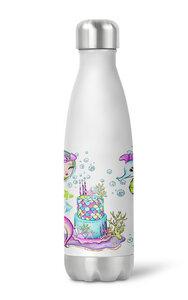 Thermoflasche Trinkflasche Meerjungfrau für Kinder Kindergarten Schule - wolga-kreativ