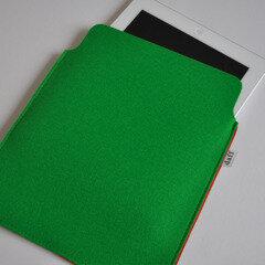 Filz Tablet Hülle / PadBag grasgrün - Daff