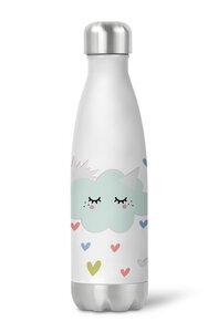 Thermoflasche Trinkflasche Sonne,Wolke für Kinder Kindergarten Schule - wolga-kreativ