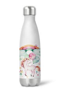 Thermoflasche Trinkflasche Einhorn für Kinder Kindergarten Schule - wolga-kreativ