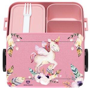 Bento Box Brotdose Lunchbox Einhorn für Kinder Mädchen Junge rosa - wolga-kreativ