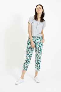 Frances Printed Trousers Green - People Tree