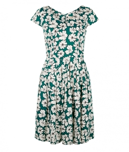 Farrah Flared Dress Green - People Tree