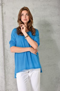 Shirt oversized 3/4 Arm blau - Madness