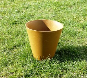 Blumentopf aus Wiesengras-Kunststoff in Marmoroptik - Biowert