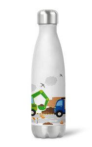 Thermoflasche Trinkflasche Baustelle für Kinder Kindergarten Schule - wolga-kreativ