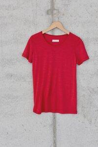 Basic Shirt in leichter Merinowolljersey-Qualität - beere - Madness