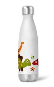 Thermoflasche Trinkflasche Dinosaurier für Kinder Kindergarten Schule - wolga-kreativ