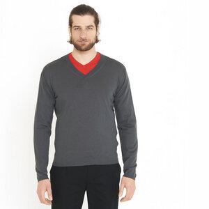 Pullover V-Ausschnitt grey - ben|weide