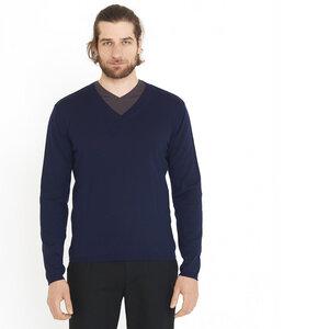 Pullover V-Ausschnitt darkblue - ben|weide