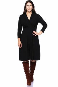 EDDA knielanges Kleid mit Wickel-Ausschnitt - Ingoria