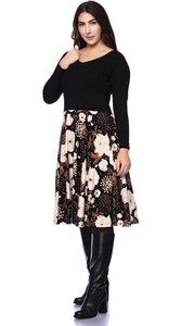 BELINDA Midi Kleid aus Bambus-Viskose - Ingoria