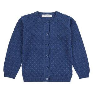 Knit knot Cardigan dunkelblau - sense-organics