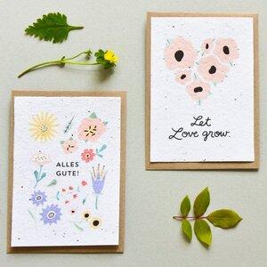 Karten aus Blumensamenpapier - MOZAÏQ eco design